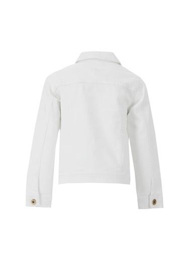 DeFacto Kız Çocuk Jean Ceket Beyaz
